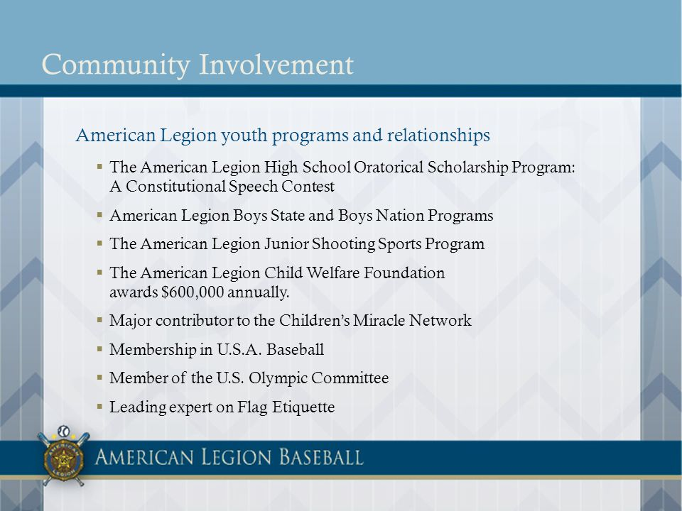 E-newsletter opportunities The American Legion Dugout Distribution: 10 times during The American Legion Baseball season Circulation: 5,500 Audience: Mostly coaches The American Legion Online Update Distribution: Promotes top stories within the Legions electronic portfolio 49 weeks of the year Circulation: 270,000 Audience: Individuals interested in receiving American Legion news and program information