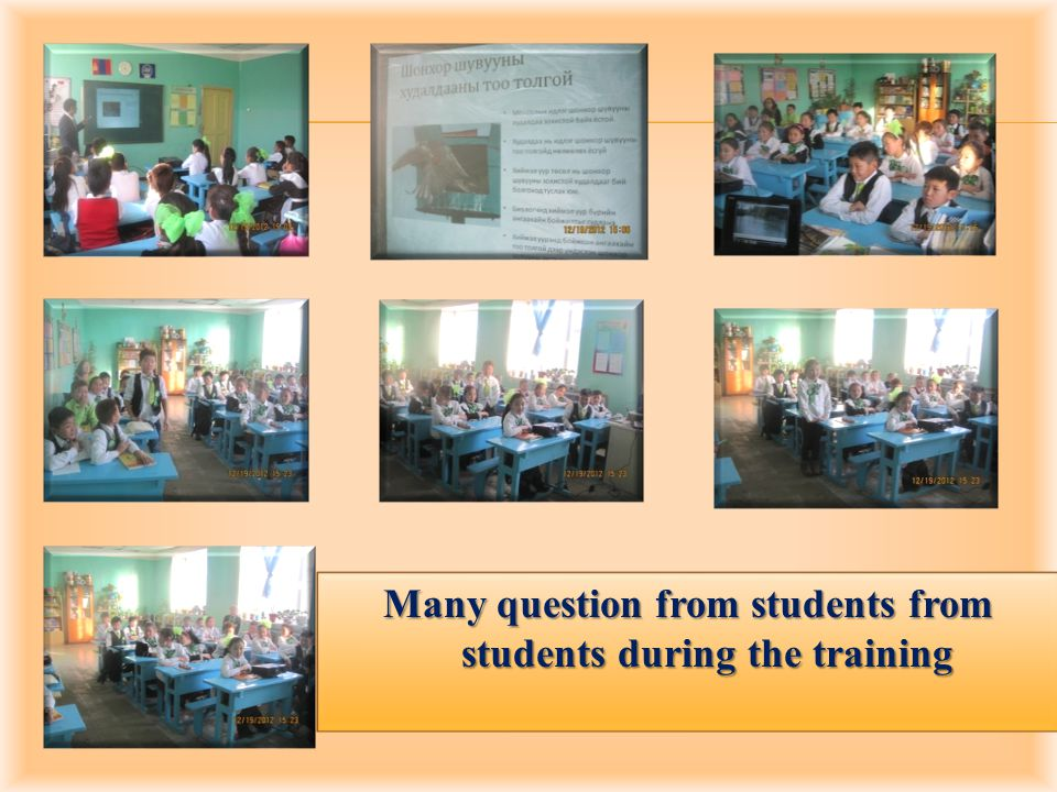 Many question from students from students during the training
