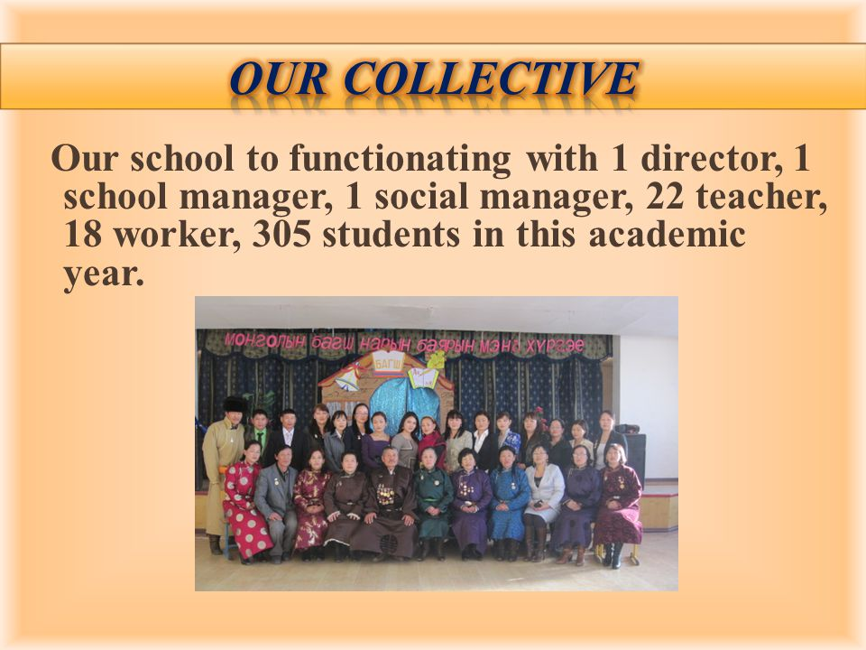 Our school to functionating with 1 director, 1 school manager, 1 social manager, 22 teacher, 18 worker, 305 students in this academic year.