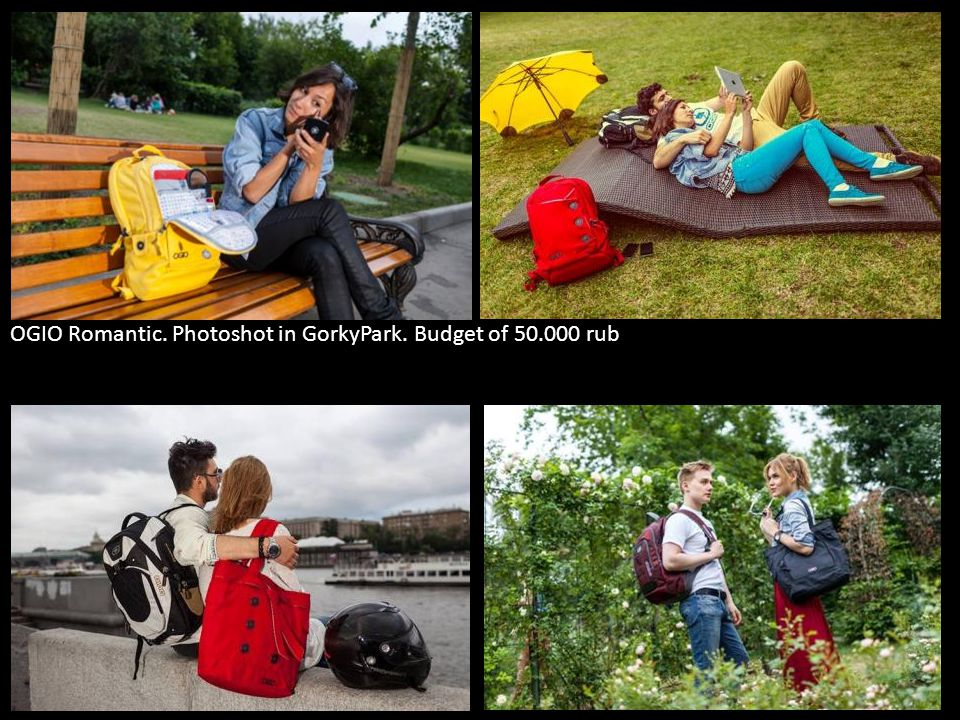 OGIO Romantic. Photoshot in GorkyPark. Budget of 50.000 rub