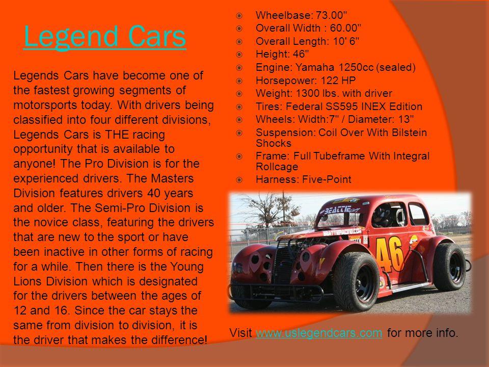 Legend Cars Wheelbase: 73.00