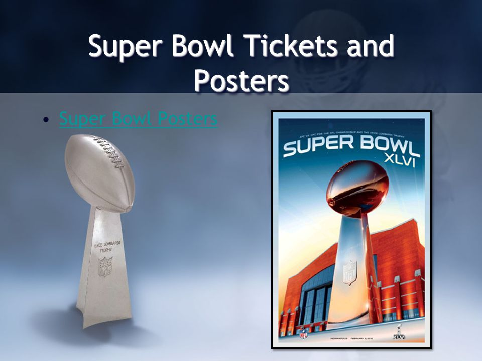 Super Bowl Tickets and Posters Super Bowl Posters