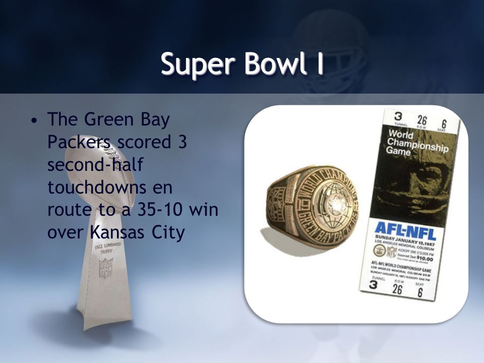 Super Bowl History The First AFL-NFL World Championship Game was established as part of the June 8, 1966 merger agreement between the AFL and NFL