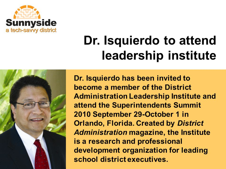 Dr. Isquierdo to attend leadership institute Dr.