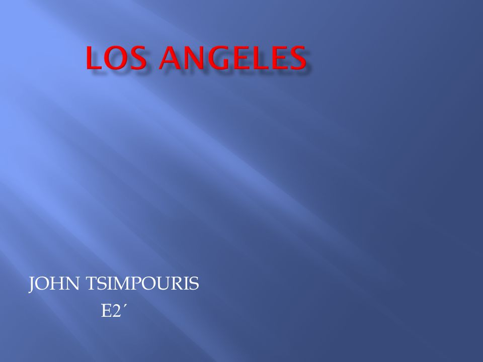 Los Angeles is the second largest city of the United States in terms of population and one of the major economic, cultural and scientific entertainment resorts in the world.
