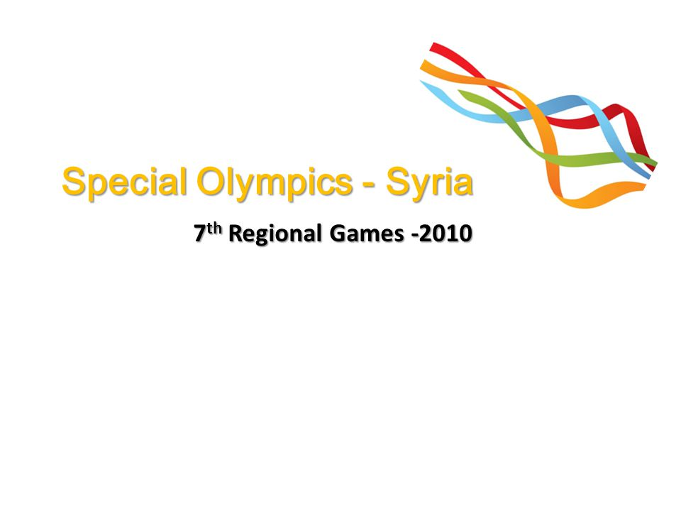 Special Olympics - Syria 7 th Regional Games -2010