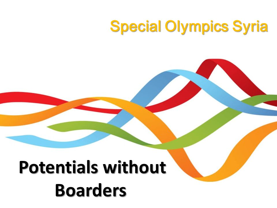 Special Olympics Syria Potentials without Boarders