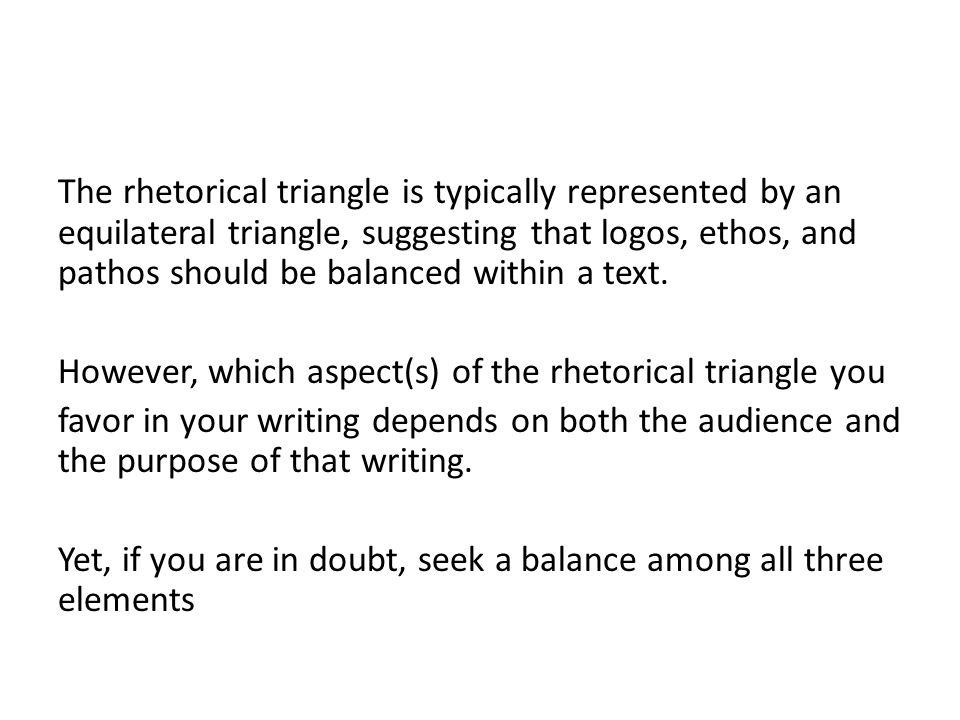 Achieving Rhetorical Balance Ethos Pathos Logos