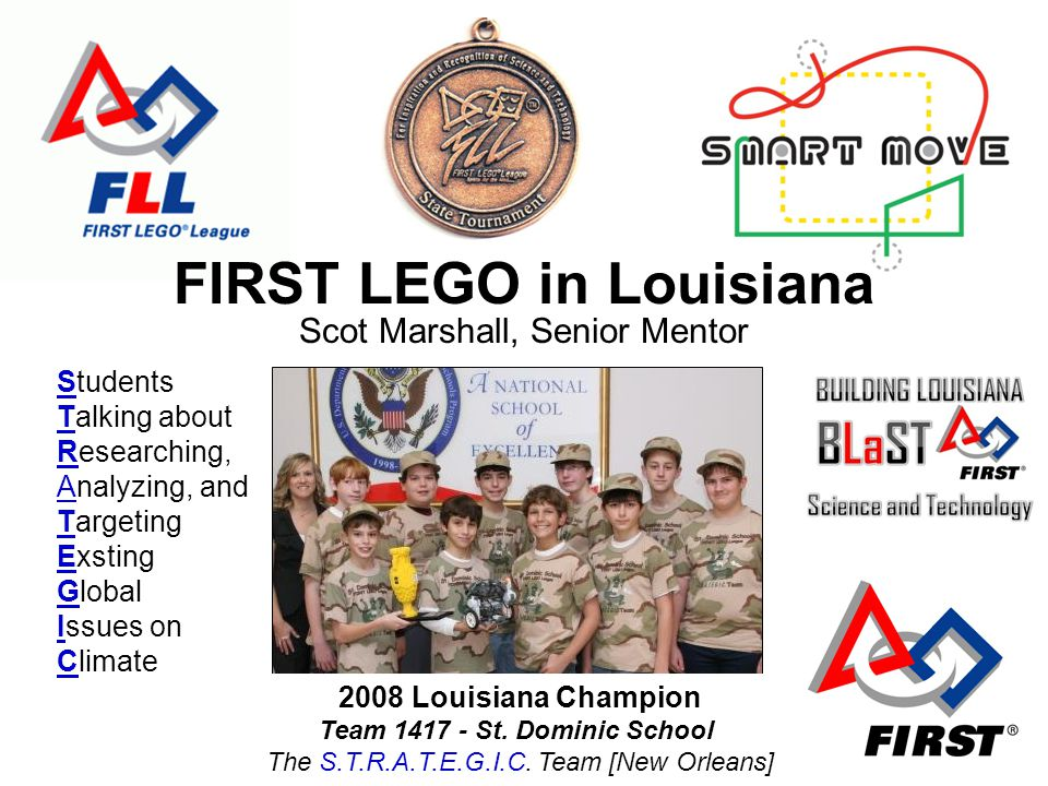 2008 Louisiana Champion Team 1417 - St. Dominic School The S.T.R.A.T.E.G.I.C.