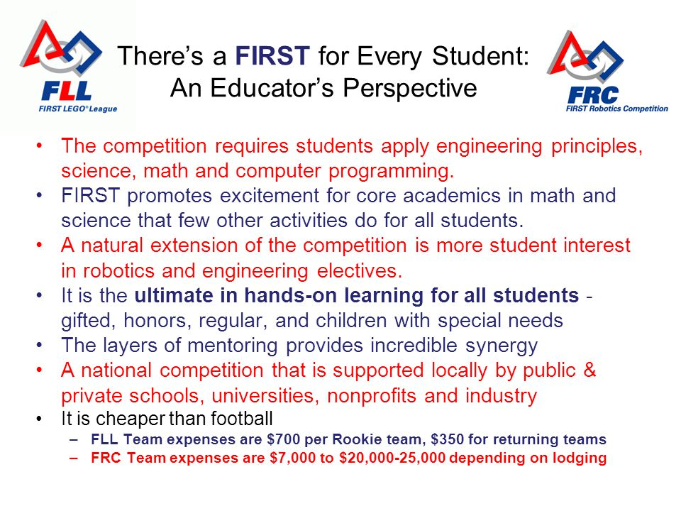 The competition requires students apply engineering principles, science, math and computer programming.