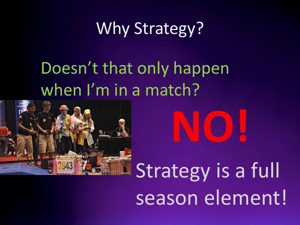 Why Strategy Doesnt that only happen when Im in a match Strategy is a full season element! NO!