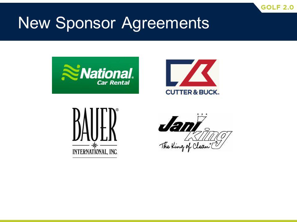 New Sponsor Agreements