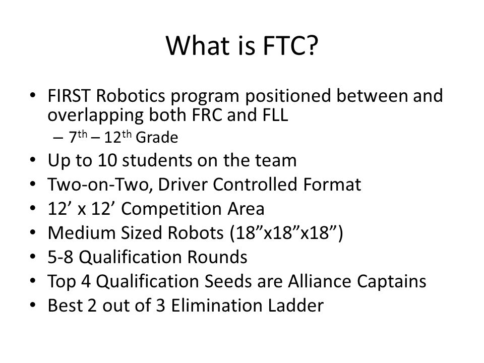 Hook Surprise.FTC is not all about the Robot.