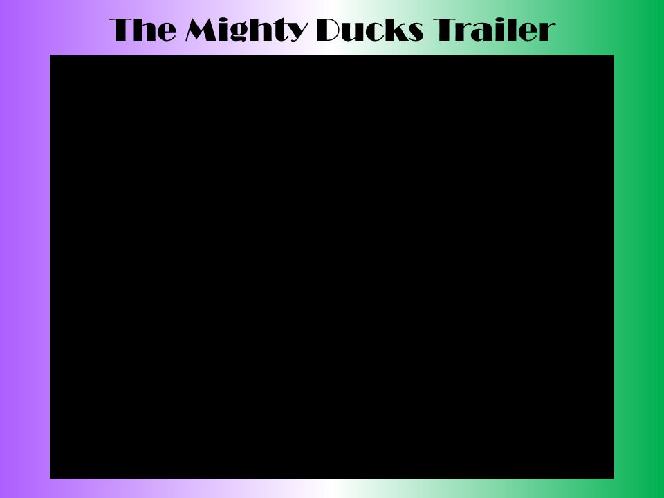 The Mighty Ducks Trailer