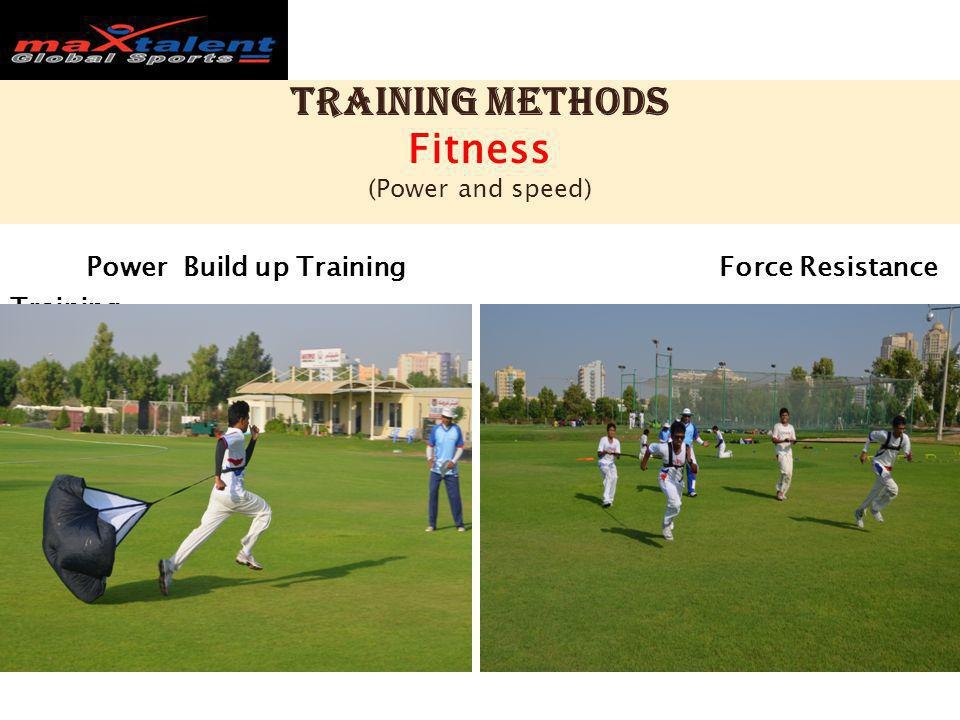 Training methods Fitness (Power and speed) Power Build up Training Force Resistance Training