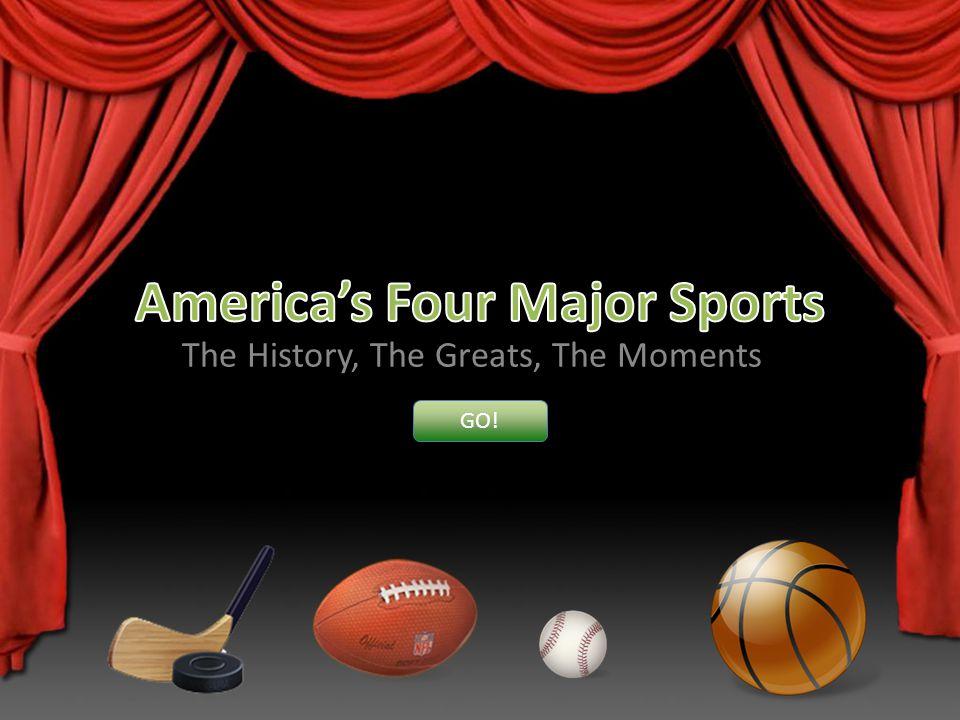 Americas Four Major Sports Major League Baseball The National Football League The National Basketball Association The National Hockey League Other Notable Sports Go EXIT