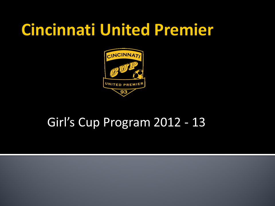 Girls Cup Program 2012 - 13