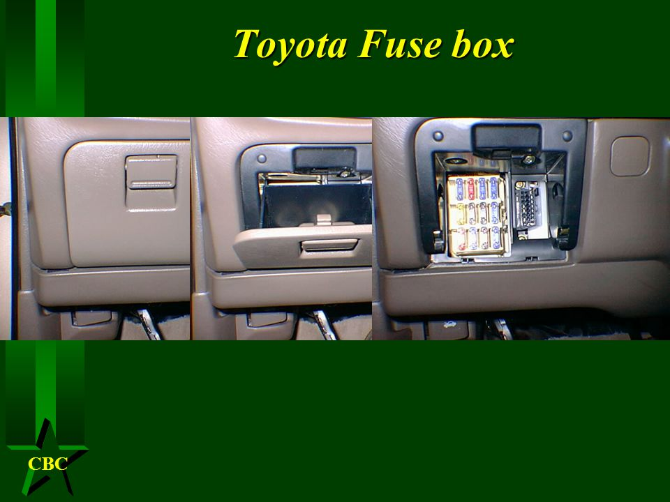 CBC Fuse boxes H A fuse box can be located in several different locations can be under the hood, under the dash, in the trunk or somewhere in the circuit.
