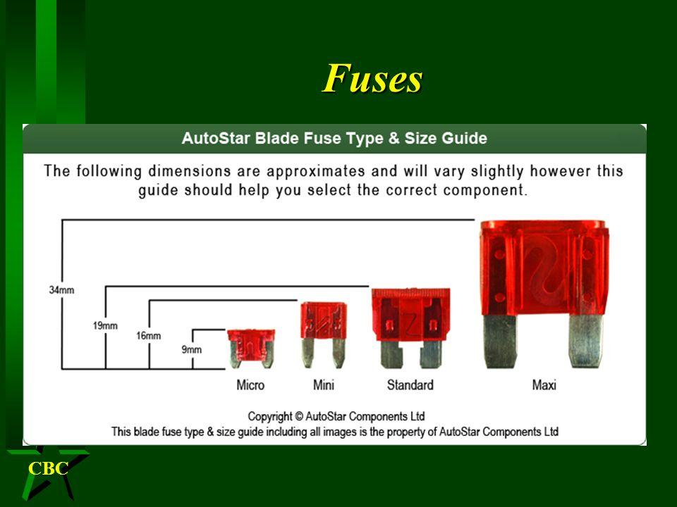CBCFuses H Auto-fuse (blade type) ATO /ATC H Mini-fuse H Maxi-fuse – Test holes – Pulling MAXI ATC/ATO ATM or MINI Low profile Mini fuses