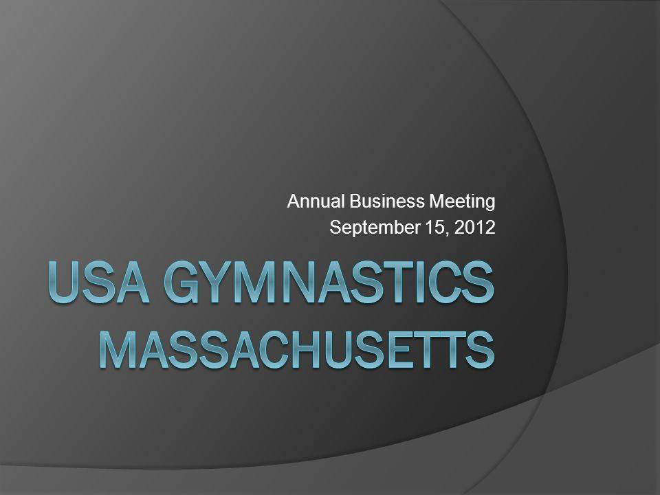 Annual Business Meeting September 15, 2012
