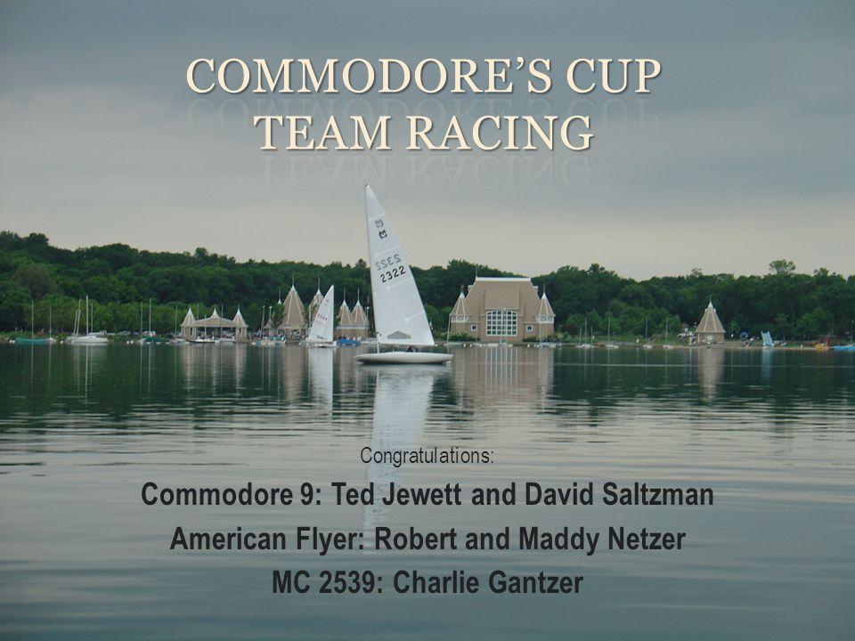 Congratulations: Commodore 9: Ted Jewett and David Saltzman American Flyer: Robert and Maddy Netzer MC 2539: Charlie Gantzer