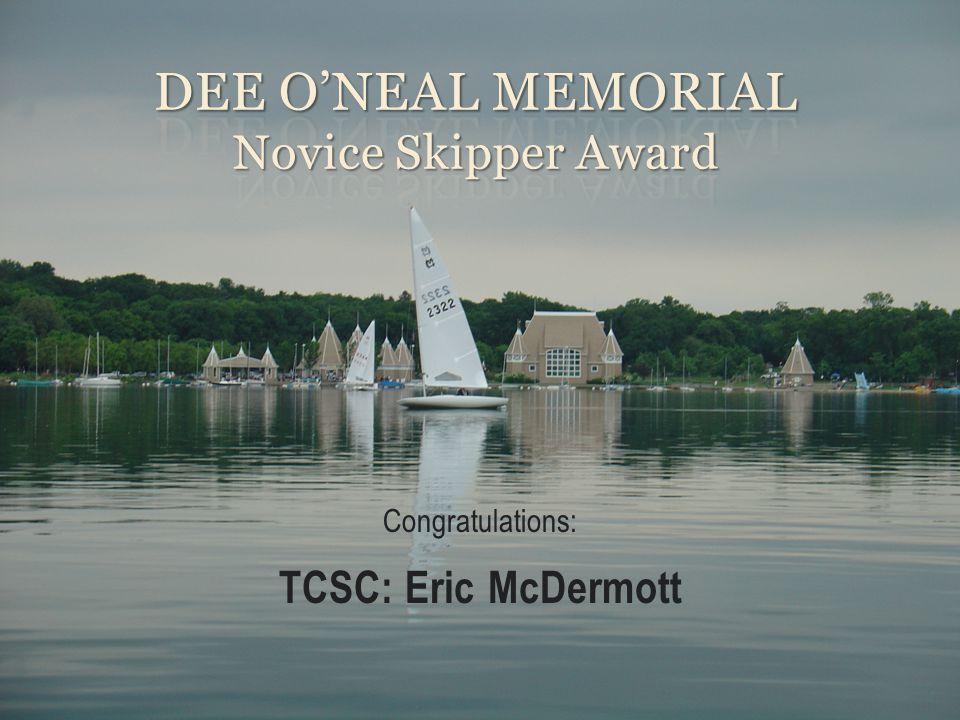 Congratulations: TCSC: Eric McDermott