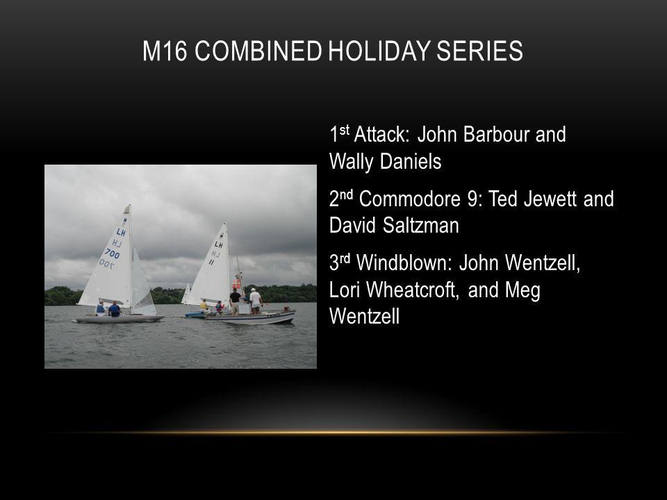 1 st Attack: John Barbour and Wally Daniels 2 nd Commodore 9: Ted Jewett and David Saltzman 3 rd Windblown: John Wentzell, Lori Wheatcroft, and Meg We