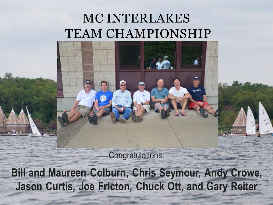 Congratulations: Bill and Maureen Colburn, Chris Seymour, Andy Crowe, Jason Curtis, Joe Fricton, Chuck Ott, and Gary Reiter MC INTERLAKES TEAM CHAMPIO