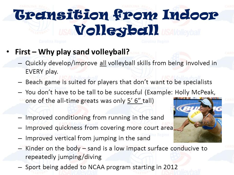 First – Why play sand volleyball.