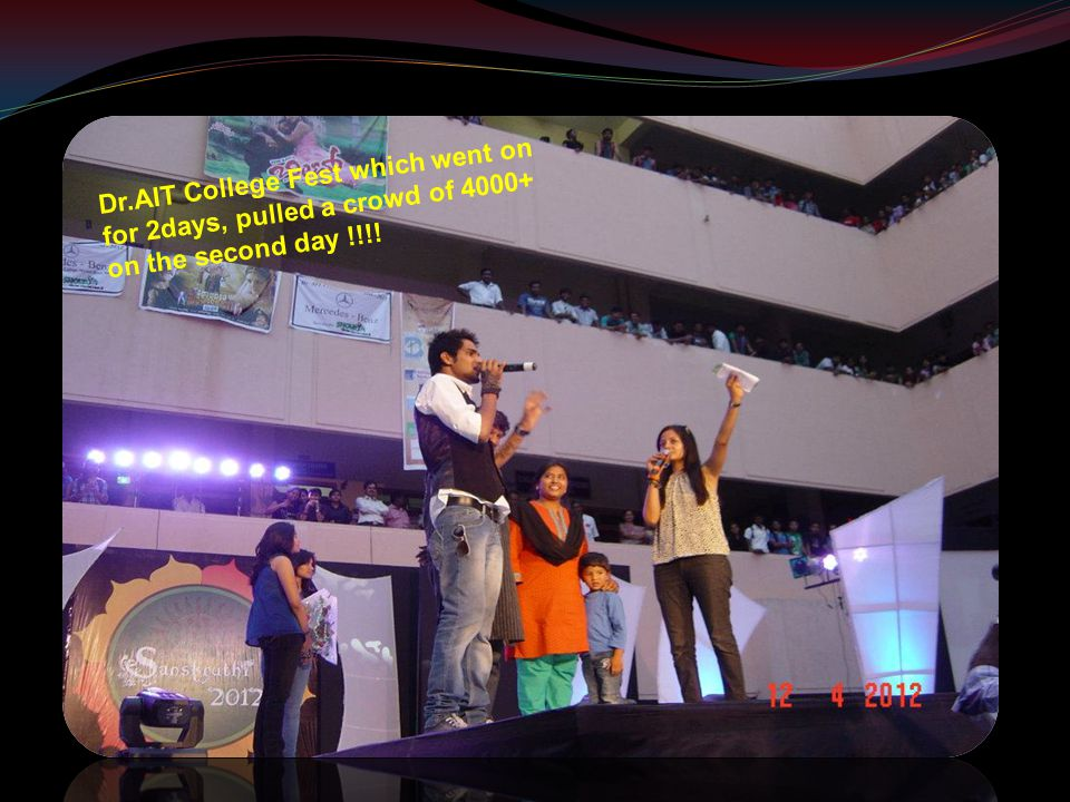 Dr.AIT College Fest which went on for 2days, pulled a crowd of 4000+ on the second day !!!!