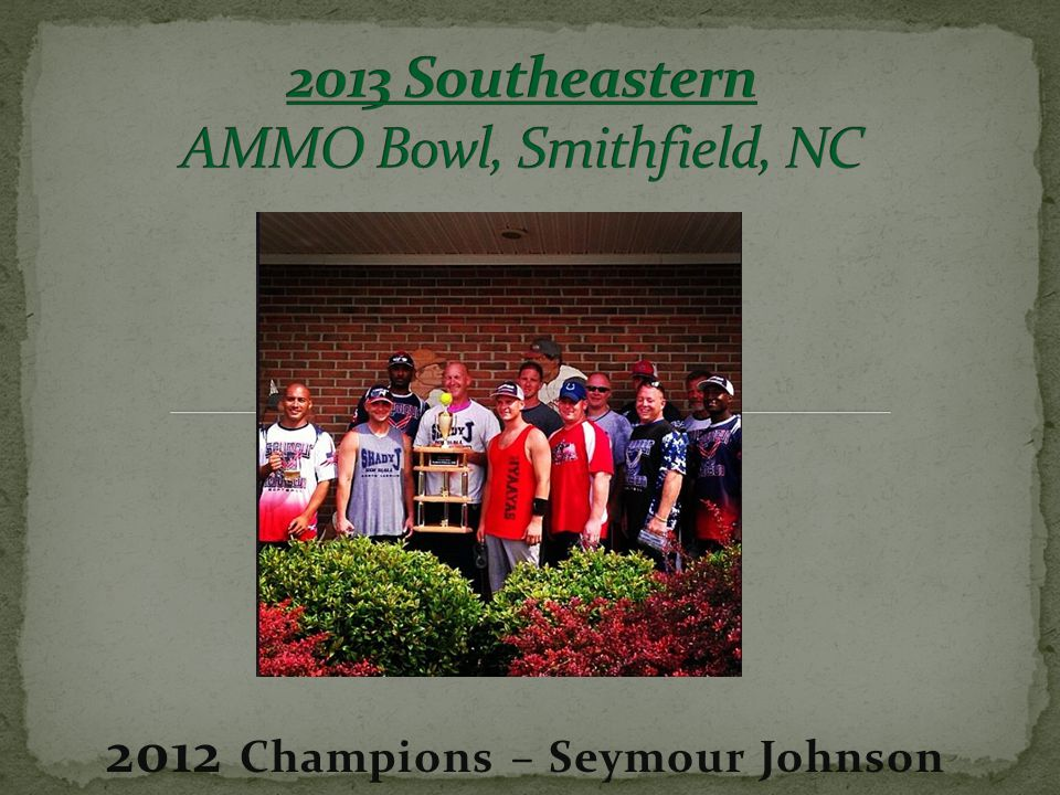 2012 Champions – Seymour Johnson