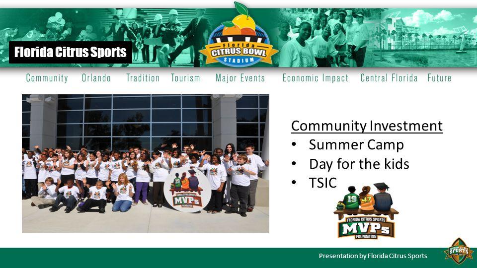 Presentation by Florida Citrus Sports History Aug.