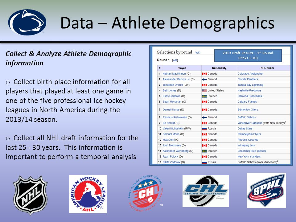 Data – Miscellaneous Collect & Analyze Miscellaneous Information o Identify the location of all ice rinks within the United States.