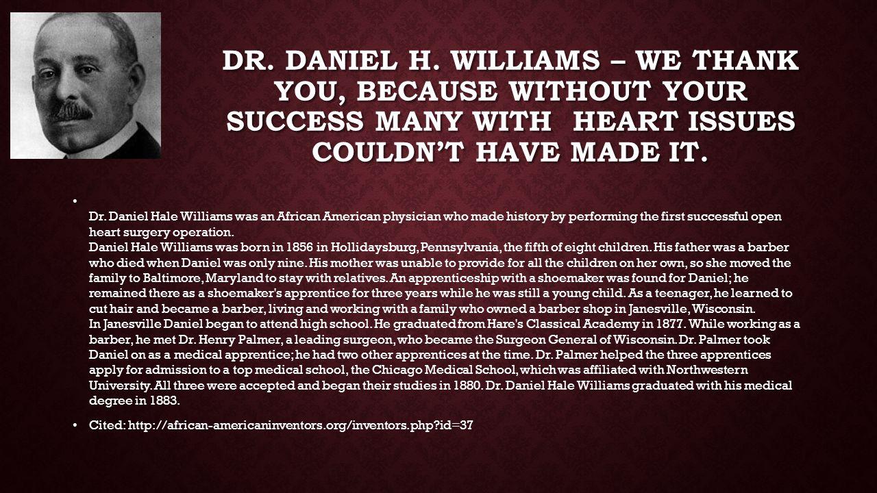 DR. DANIEL H.