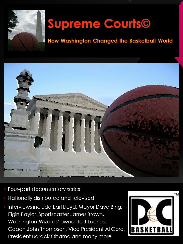 Four-part documentary series Nationally distributed and televised Interviews include Earl Lloyd, Mayor Dave Bing, Elgin Baylor, Sportscaster James Brown, Washington Wizards owner Ted Leonsis, Coach John Thompson, Vice President Al Gore, President Barack Obama and many more Armstrong High School - 1934Armstrong High School - 1934