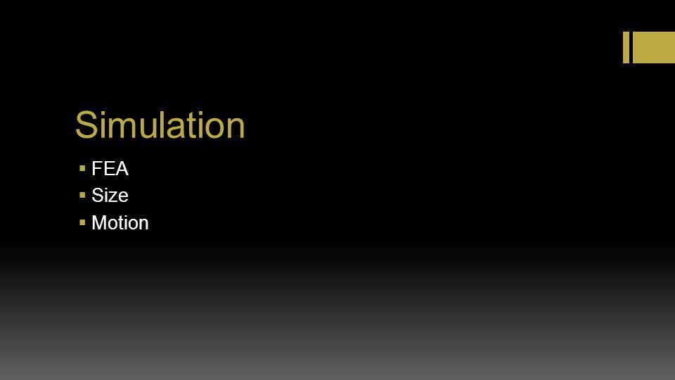 Simulation FEA Size Motion