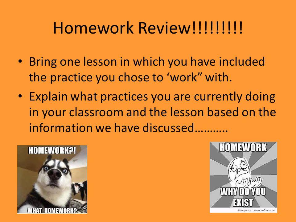 Homework Review!!!!!!!!.