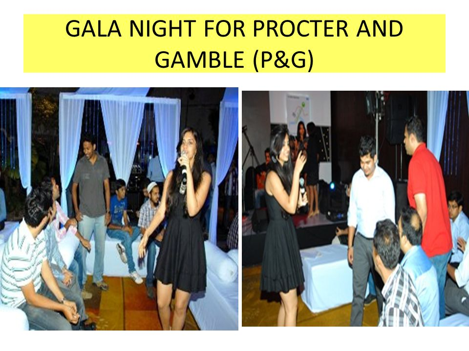 GALA NIGHT FOR PROCTER AND GAMBLE (P&G)