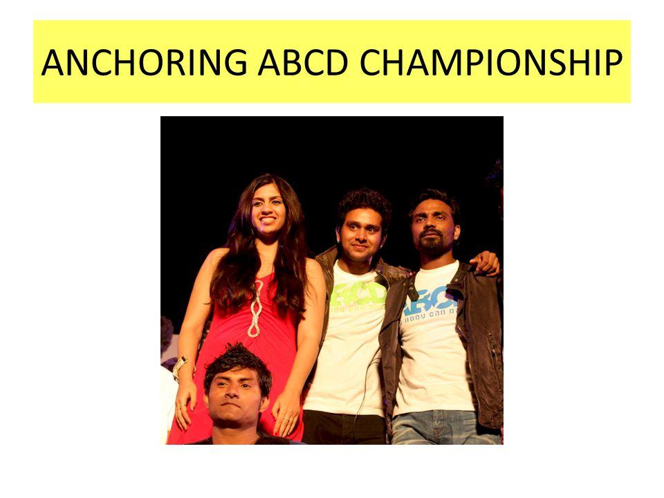 ANCHORING ABCD CHAMPIONSHIP