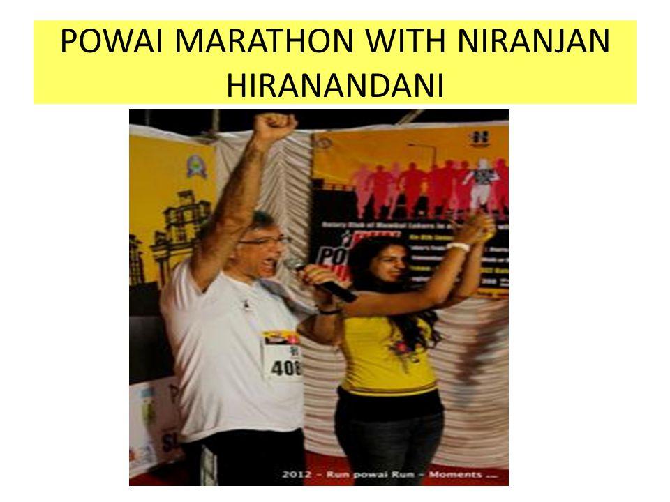 POWAI MARATHON WITH NIRANJAN HIRANANDANI