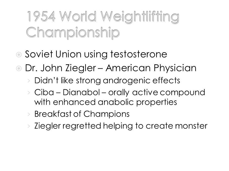 Soviet Union using testosterone Dr.
