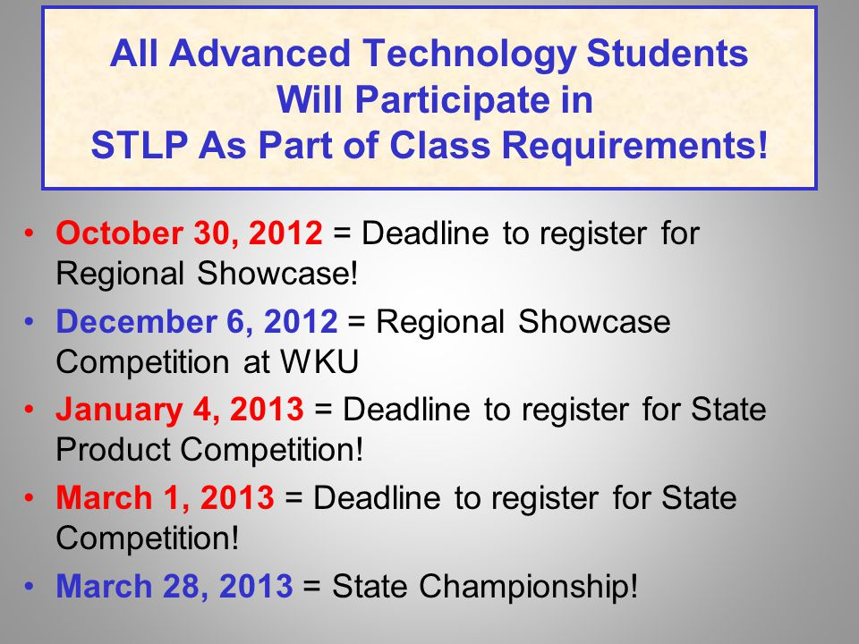 References STLP Web Site http://www.education.ky.gov/ http://tiny.cc/y22an STLP Handbook 2012-2013 STLP Listserv ~ Join Today.