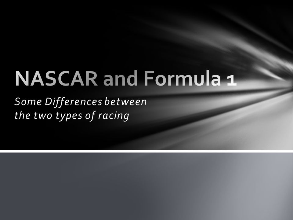 Circuit Design Car Design Rules and Regulations NASCAR and Formula 1: Differences