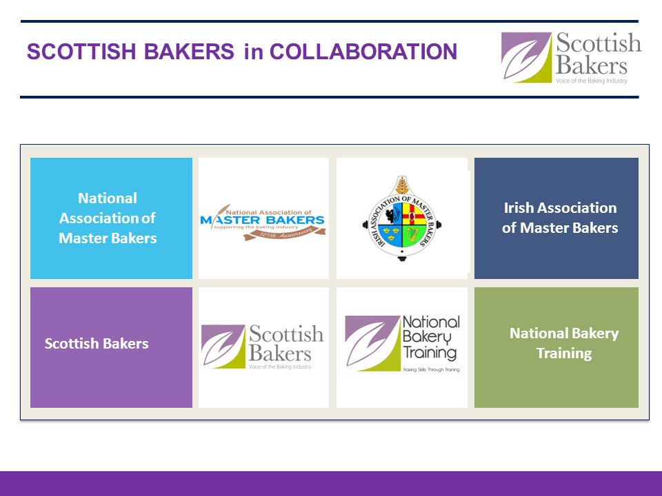 SCOTTISH BAKERS in COLLABORATION Scottish Bakers Irish Association of Master Bakers National Bakery Training National Association of Master Bakers