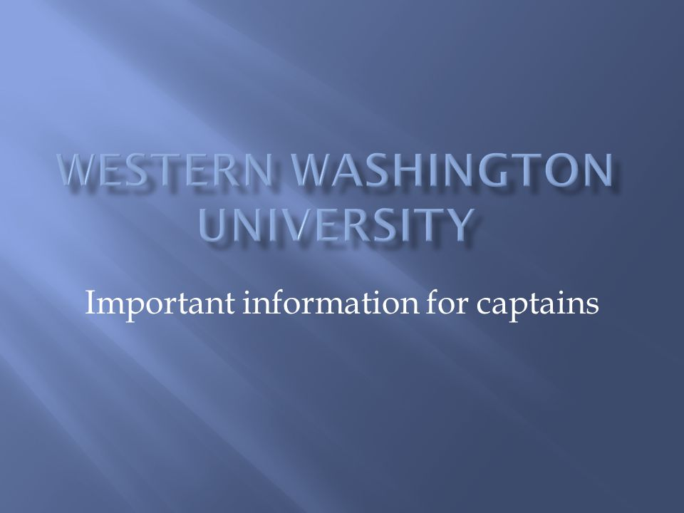 Important information for captains