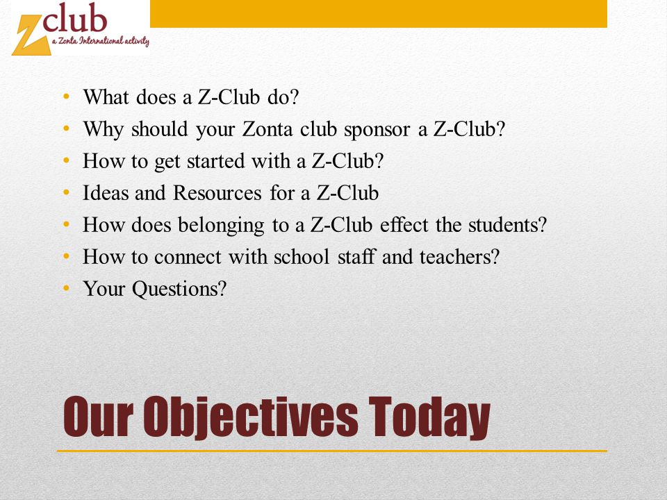 How to Get Started with a Z-Club.