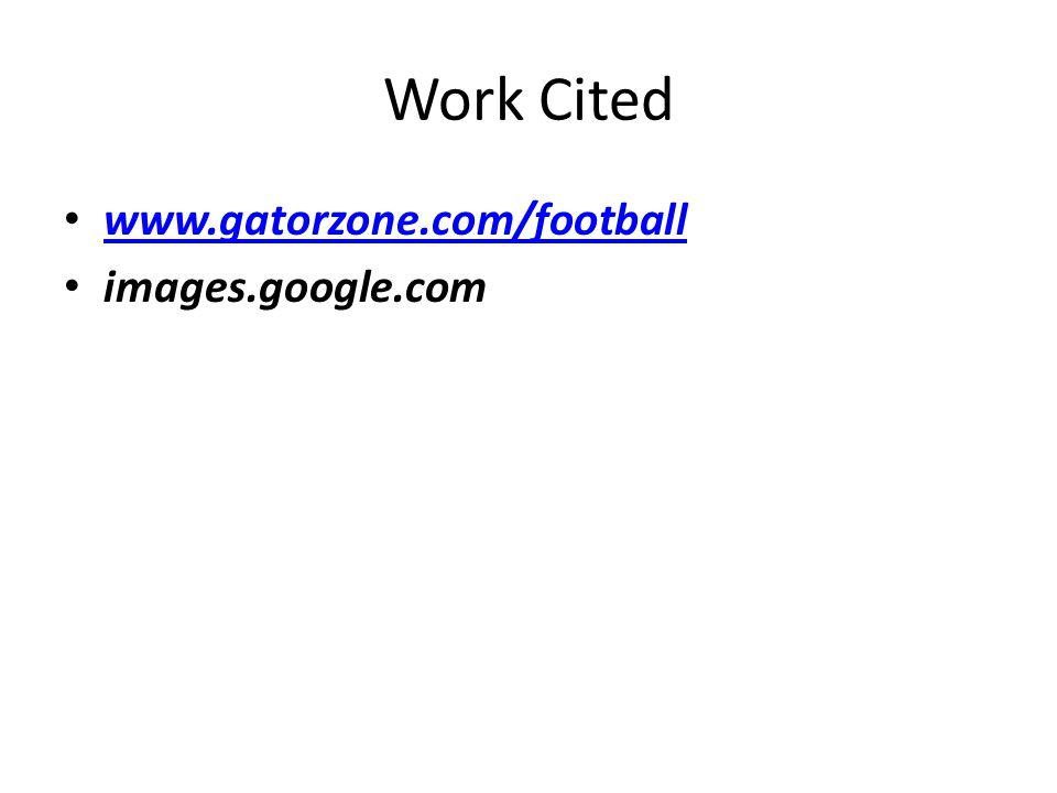 Work Cited www.gatorzone.com/football images.google.com
