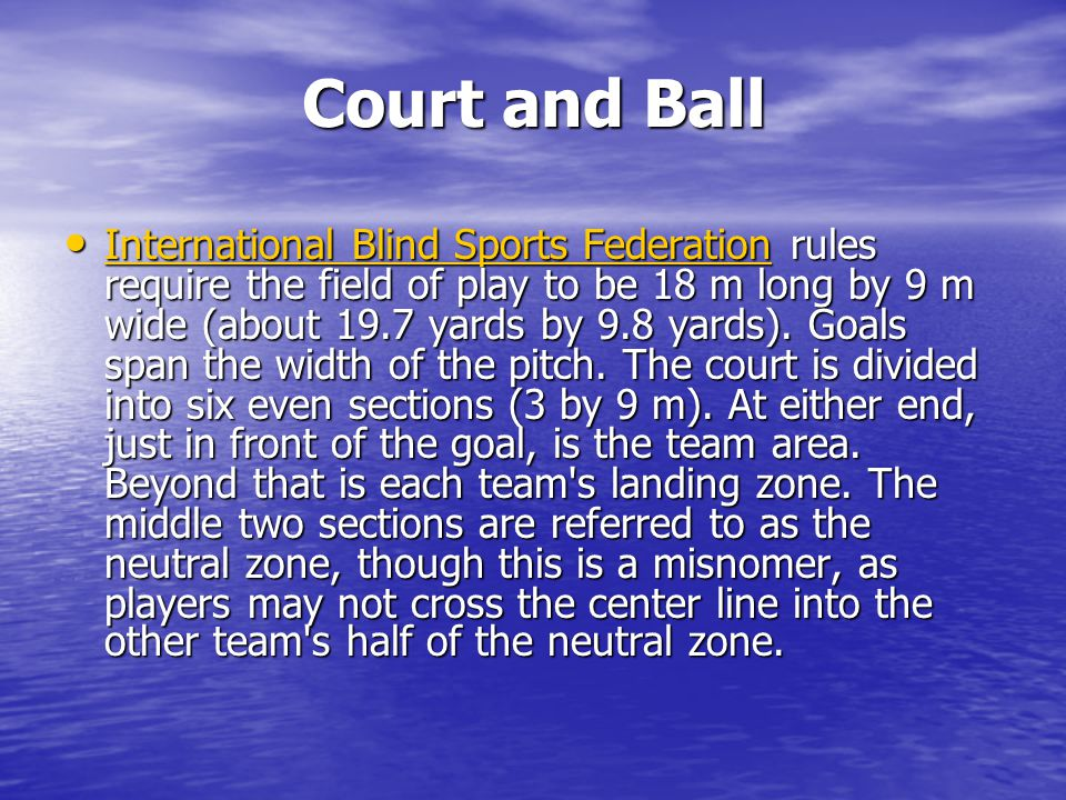 The lines of the court are made by placing tape over lengths of twine.