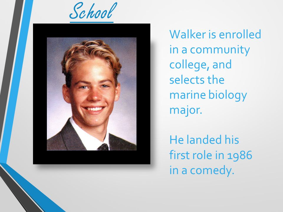 Walker is enrolled in a community college, and selects the marine biology major.