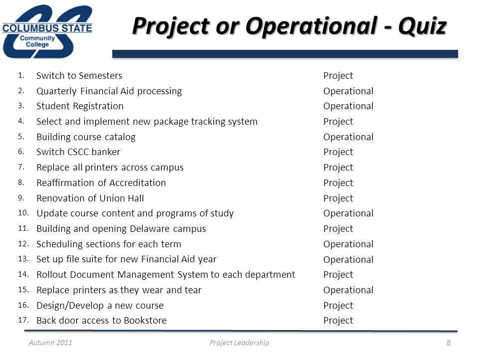 Project Success Factors From your experience, what has made projects successful.